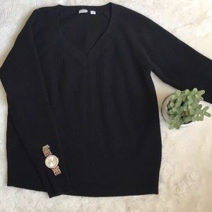 Chunky gap sweater in black